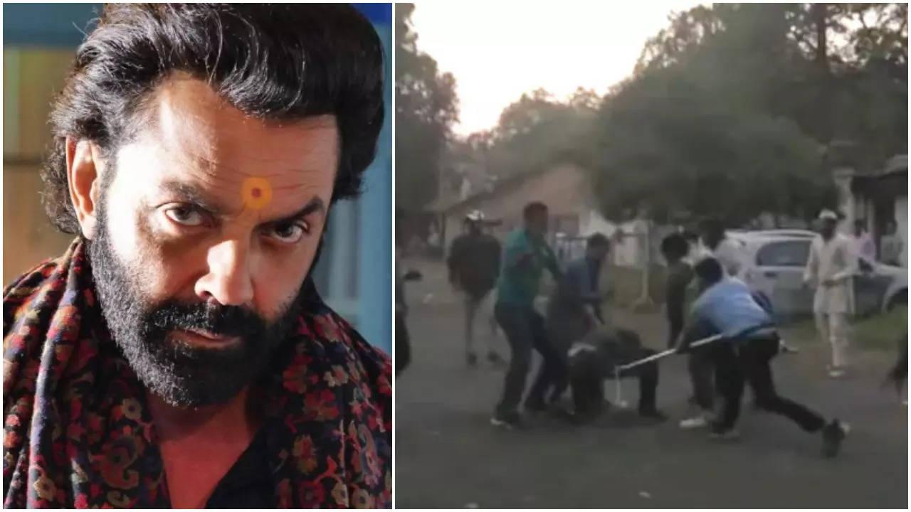 Bajrang Dal activists attack 'Ashram-3' sets for 'wrong portrayal'; throw ink on Prakash Jha