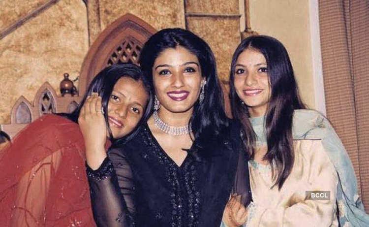 Raveena Tandon adopted two girls, Chhaya and Pooja in 1995, much marrying  Anil Thadani. Raveena and Anil are proud parents of Rasha and Ranbir.