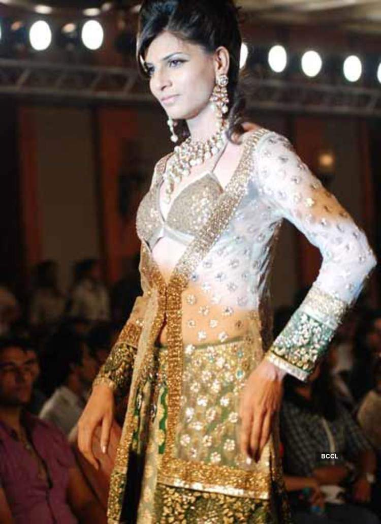 A Model Walks The Ramp For Designer Sonia Mehra During India Princess Fashion Show At Jw Marriott In Mumbai Photogallery