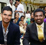 Subramaniam Badrinath and Muttiah Muralitharan