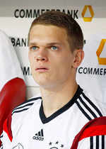 Matthias Ginter is the youngest player in the team at 20 years five months (DOB: 19 Jan 1994).