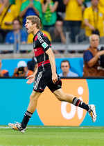 Germany forward Thomas Mueller has covered the most ground – 68.8 kilometers – for any player in Football World Cup 2014. No surprise that he has scored five goals so far in the tournament.  (Source: Fifa.com)