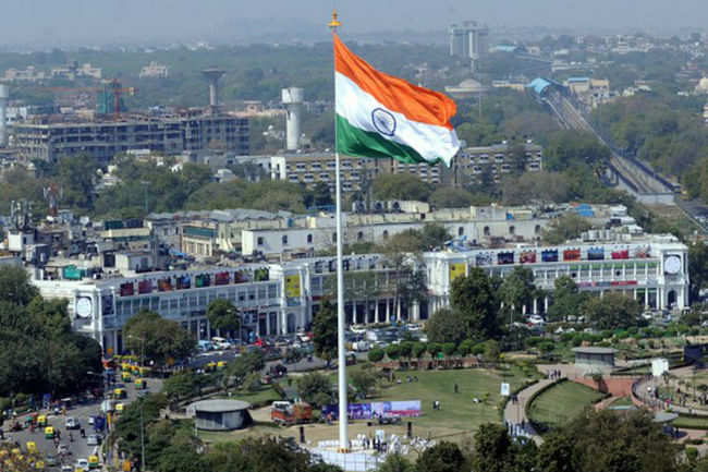 Flag of India at Central Park