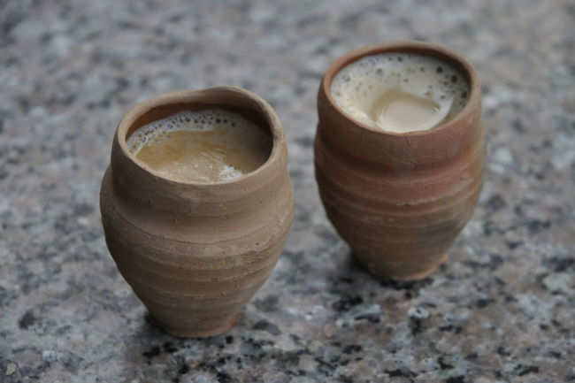 Chai in earthen cups
