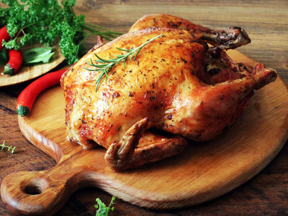 Roasted Chicken Recipe How To Make Roasted Chicken Recipe At Home Homemade Roasted Chicken Recipe Times Food