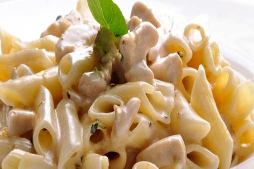 Homemade Pasta in White Sauce