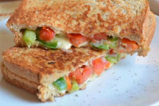 Mixed Vegetable and Cheese Sandwich