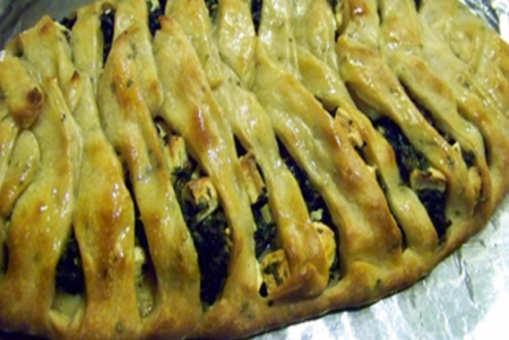 Braided Spinach & Feta Stuffed Bread