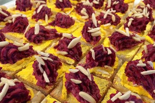 Beetroot Halwa on Saffron Toast