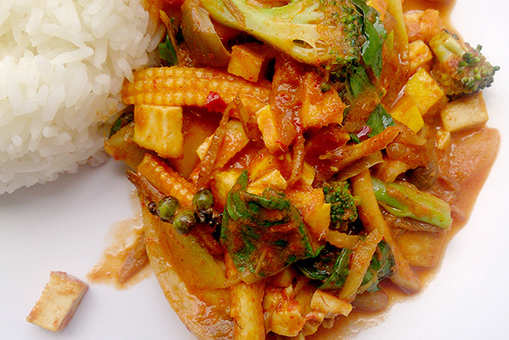 Pan-Fried Thai Red Curry