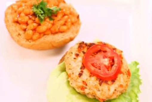 Masala Oats Chicken Burger