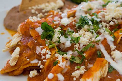 Green Chilli and Chicken Chilaquiles
