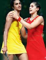 PV Sindhu and Carolina Marin
