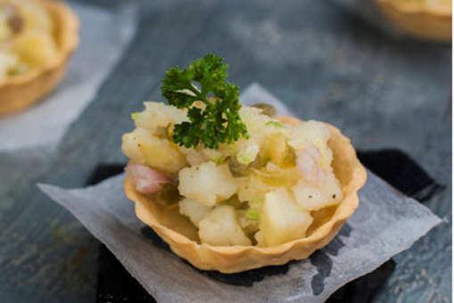 Jalapeno Potato Chaat Cups