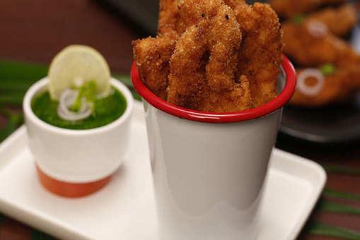 Oven Baked Amritsari Fish Fries