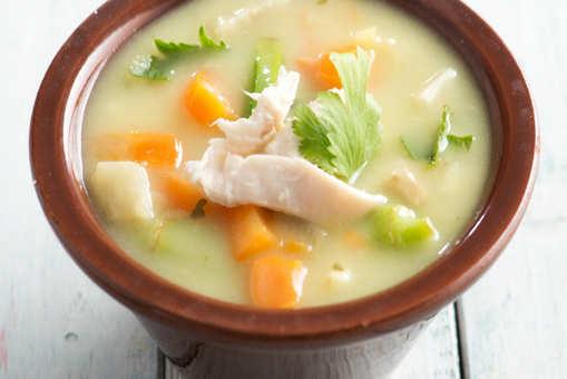 Leftover Roast Chicken Soup