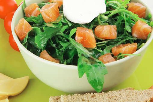 Salmon and Rocket Leaves Salad
