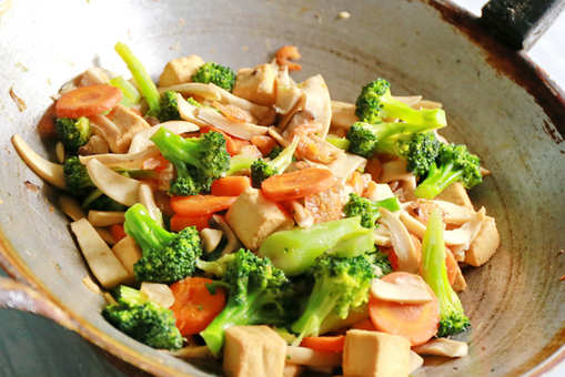 Tofu Mushroom and Broccoli Stir Fry