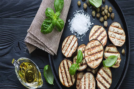 Grilled Aubergine Parcels