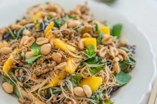 Turkey, Mango and Noodle Salad