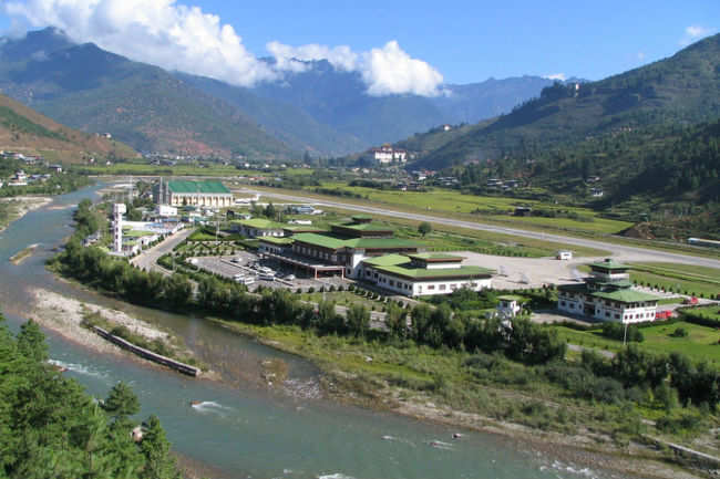 Paro airport viewpoint