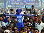 ​A BSP supporter in Agra.