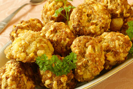 Fried Cheese Balls with Sausage
