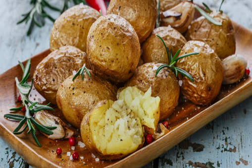 Rosemary Garlic Baked Potatoes