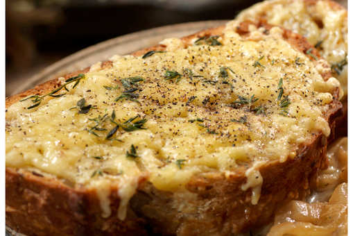 Baked Egg Cheese Toast
