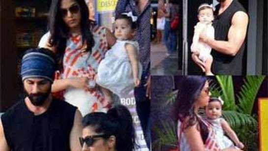 Misha steals all the attention from parents Shahid and Mira