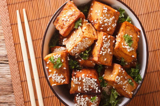 Tofu in Sweet Ginger Sauce