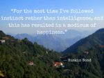 'I've followed instinct rather than intelligence'