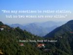 'Men may be similar, but women are never alike'