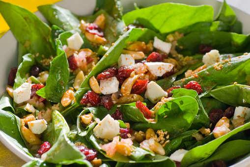 Cheesy Spinach Salad