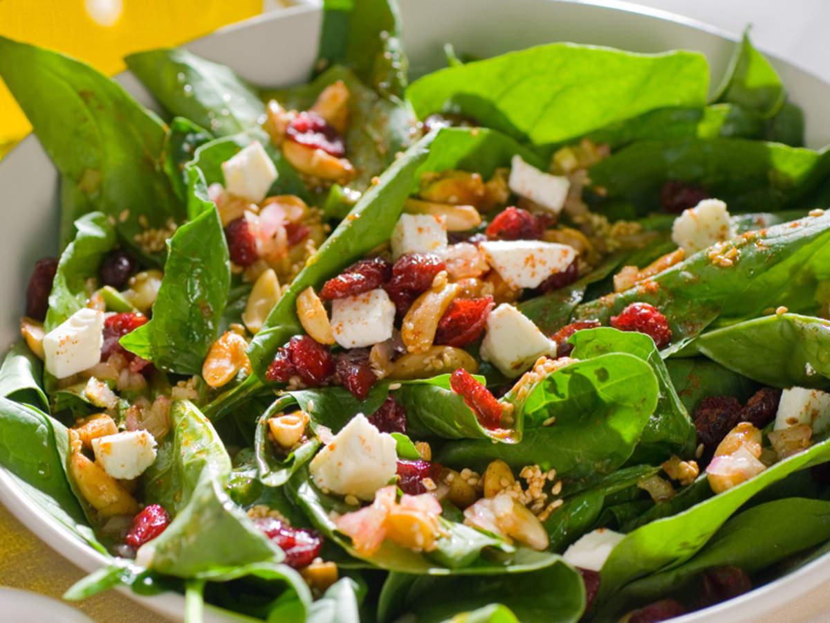 Cheesy Spinach Salad Recipe How To Make Cheesy Spinach Salad Recipe Homemade Cheesy Spinach Salad Recipe