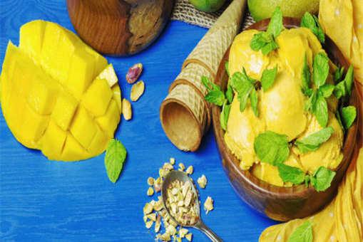 Mango Pistachio Cardamom Ice Cream