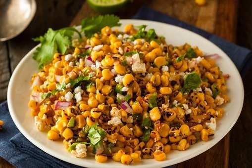 Mixed Sprouts Corn Chaat