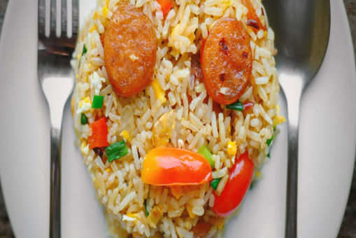 Fried Rice with Chicken Sausage