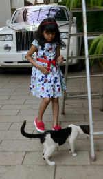 Aaradhya Bachchan names her cat Salt Pepper