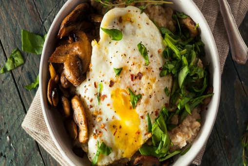Oatmeal and Mushroom Stir Fry