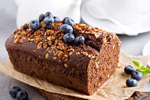 Eggless Whole Wheat Blueberry Cake