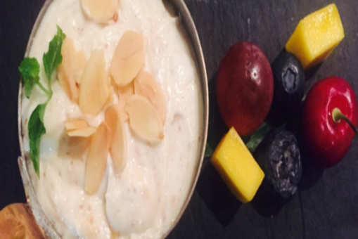 Maple Shrikhand with Roast Almonds
