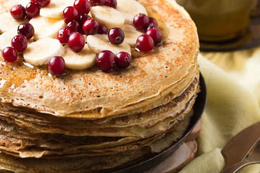Banana And Cranberry Pancakes