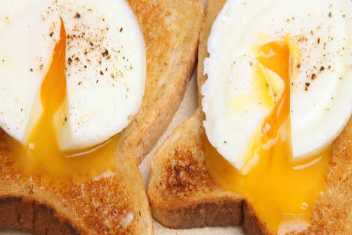 Poached Eggs With A Toast