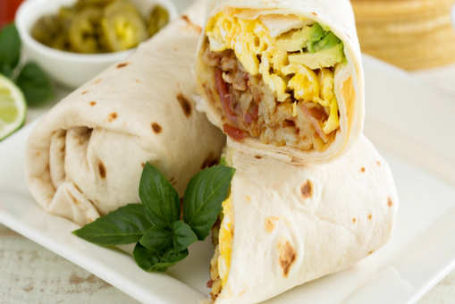 Eggs and Potato Burrito