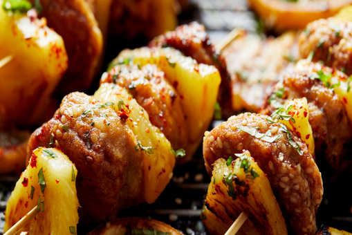 Pineapple Skewers With Chicken