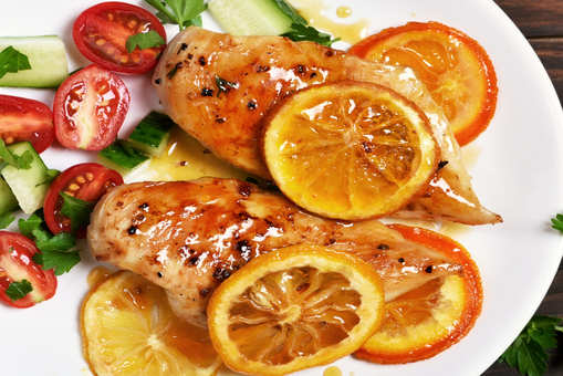 Mint Chicken With Sweet Orange Sauce