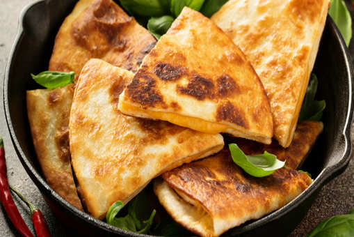 Spinach Quesadilla With Cheese