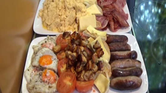 A breakfast worth 10,782 calories!