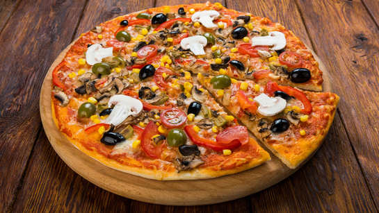 Here's a large cheese pizza that's had in less than 2 minutes!